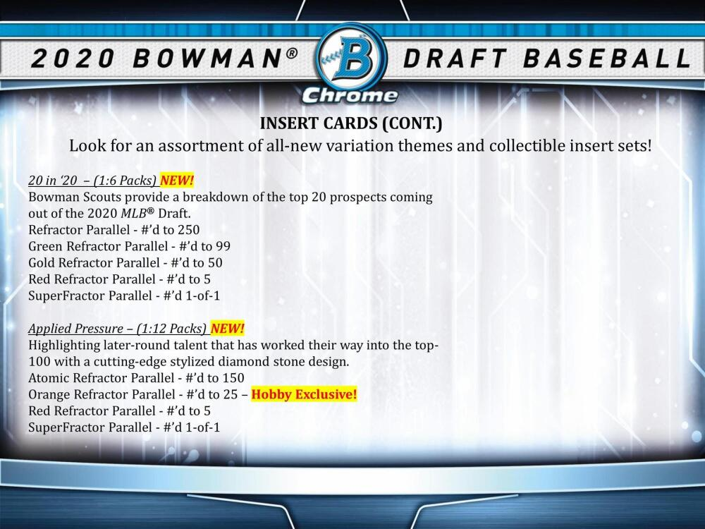 2020 Bowman Draft Hobby Jumbo Box Got Baseball Cards Of Georgia 770 736 9998