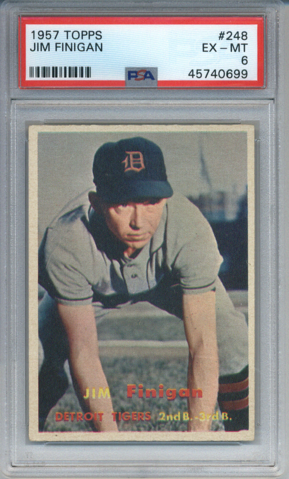 1957 Topps #248 Jim Finigan PSA 6