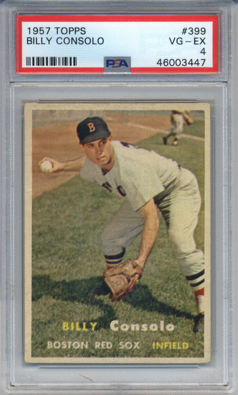 1957 Topps #399 Billy Consolo PSA 4