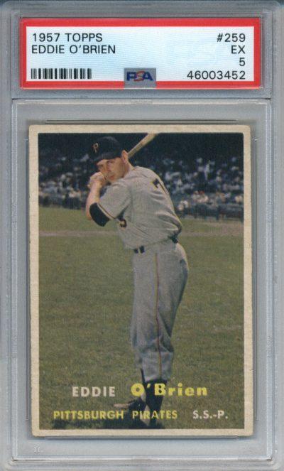 1957 Topps #259 Eddie O'Brien PSA 5