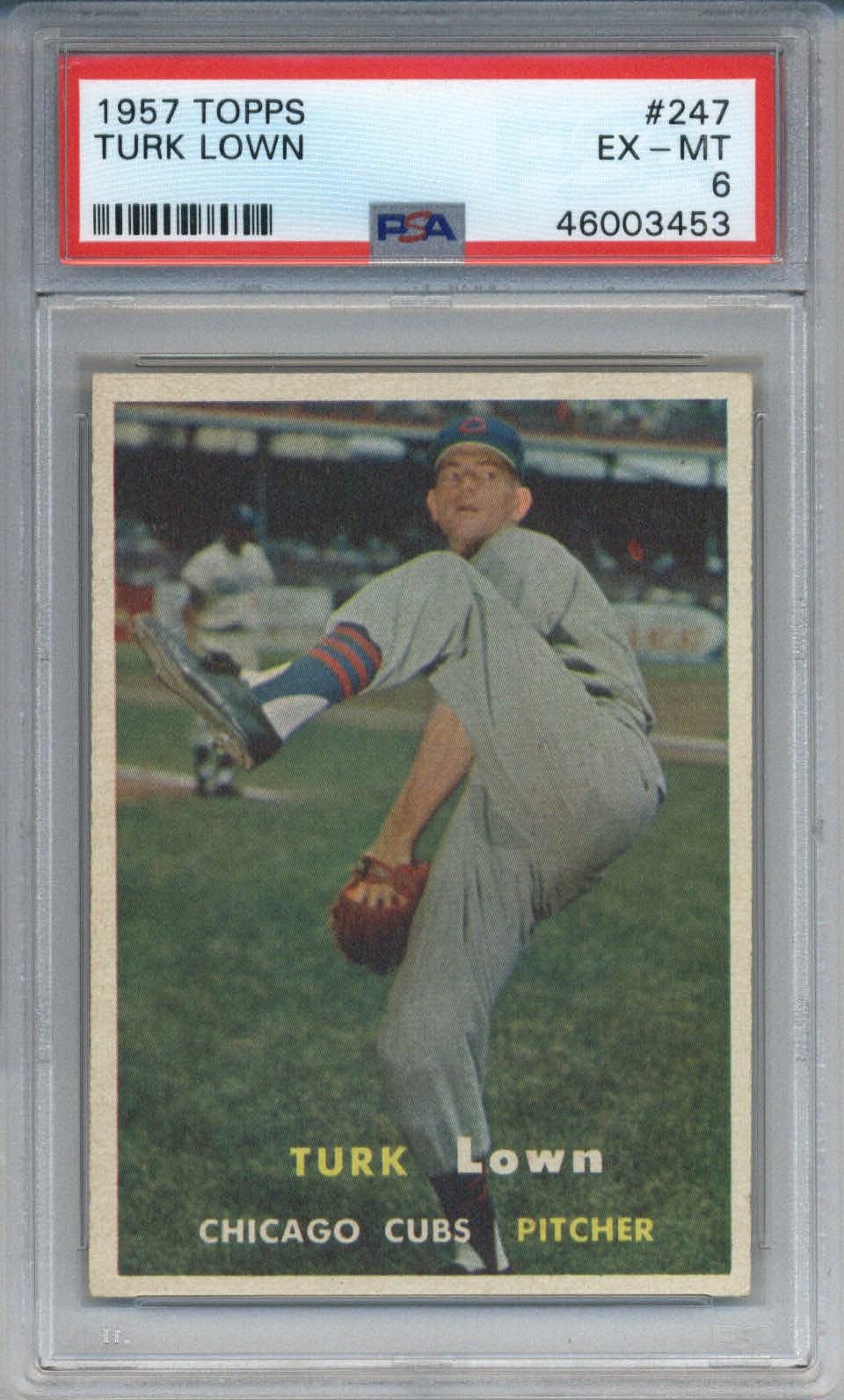 1957 Topps #247 Turk Lown PSA 6