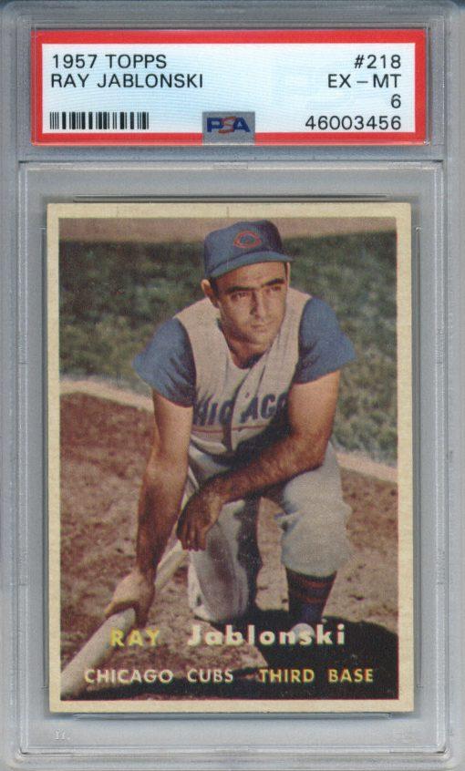 1957 Topps #218 Ray Jablonski PSA 6