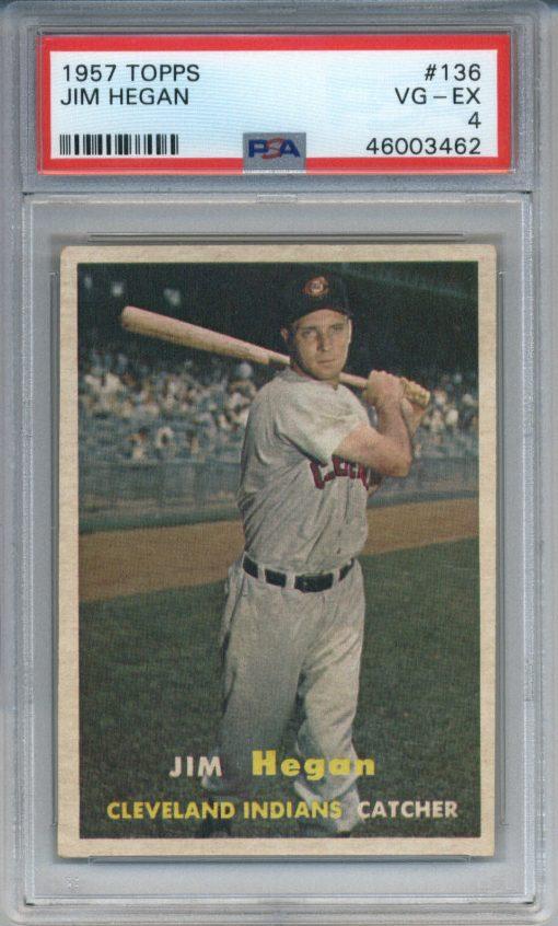 1957 Topps #136 Jim Hegan PSA 4