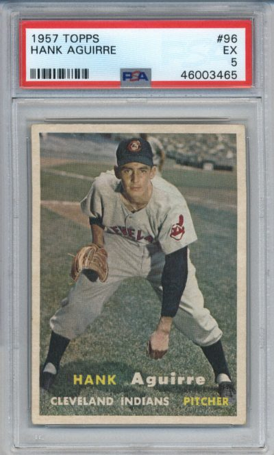 1957 Topps #96 Hank Aguirre PSA 5