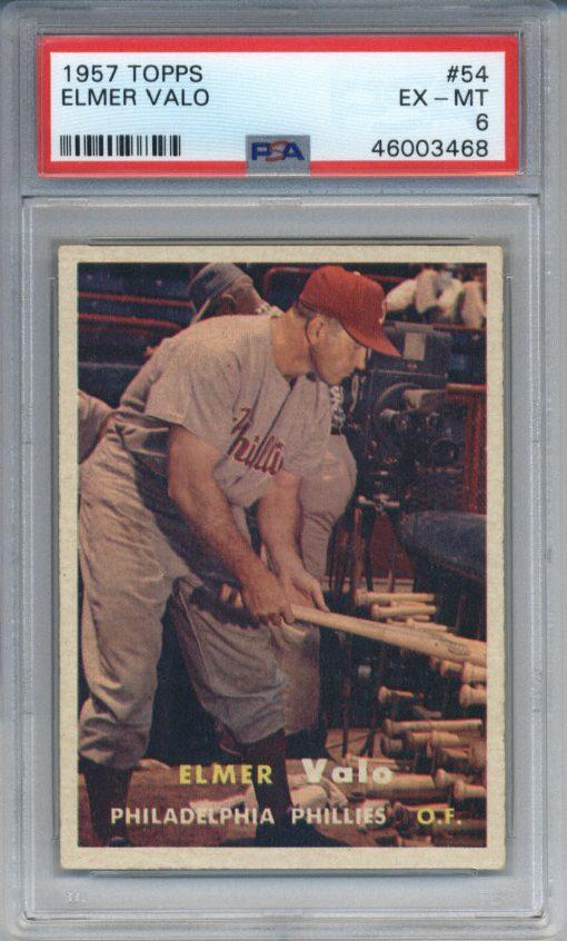 1957 Topps #54 Elmer Valo PSA 6