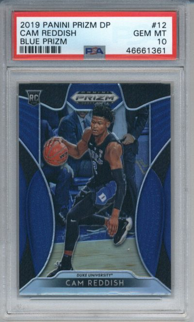 2019-20 Panini Prizm Draft Picks Blue #12 Cam Reddish PSA 10