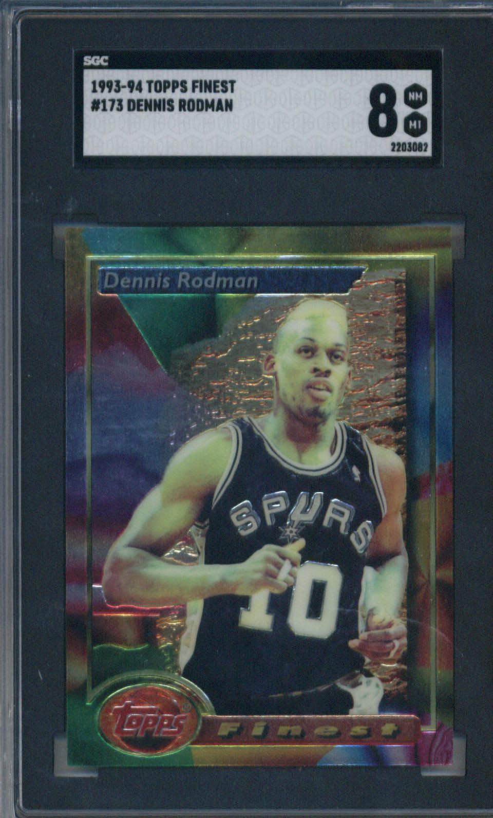 1993-94 Topps Finest #173 Dennis Rodman SGC 8