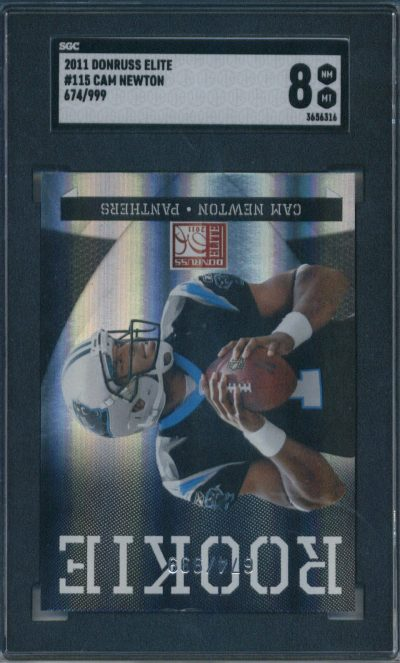 2011 Donruss Elite 674/999 #115 Cam Newton SGC 8