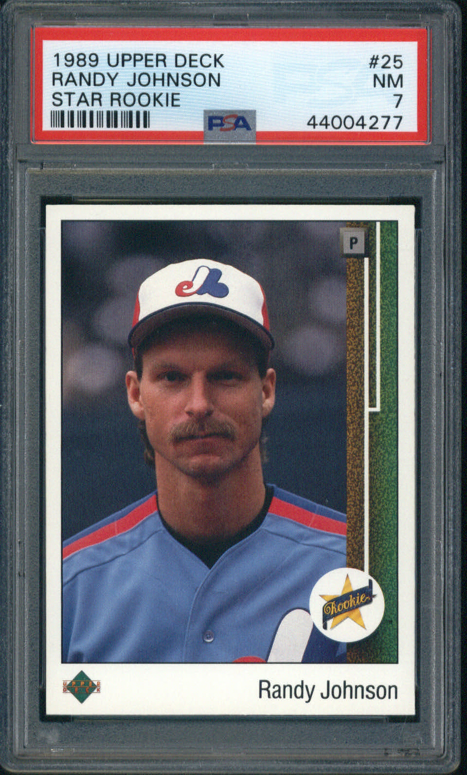 1989 Upper Deck Star Rookie #25 Randy Johnson PSA 7