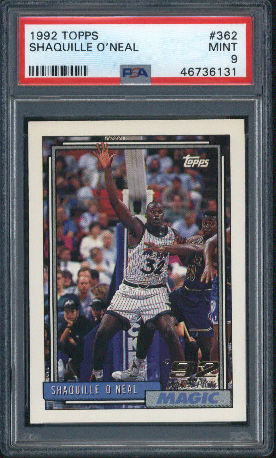 1992 Topps #362 Shaquille O'Neal PSA 9