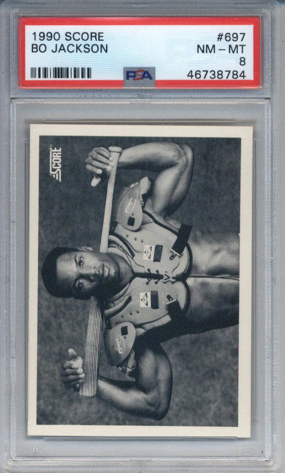 1990 Score #697 Bo Jackson PSA 8
