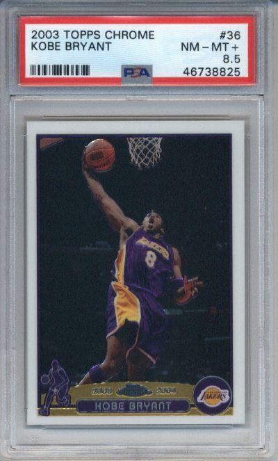 2003 Topps Chrome #36 Kobe Bryant PSA 8.5
