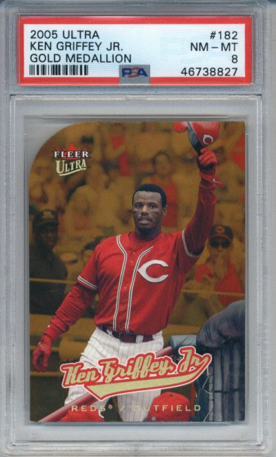 2005 Ultra Gold Medallion #182 Ken Griffey Jr. PSA 8