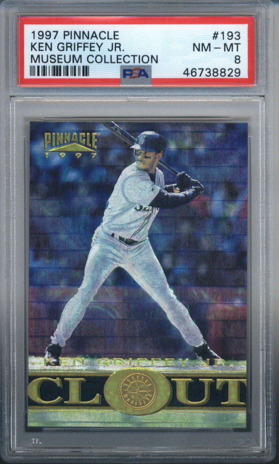 1997 Pinnacle Museum Collection #193 Ken Griffey Jr. PSA 8