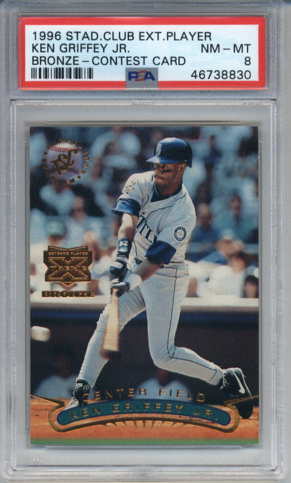 1996 Stadium Club Extreme Player Bronze Contest Card Ken Griffey Jr. PSA 8