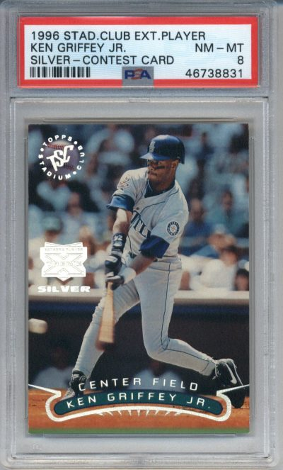 1996 Stadium Club Extreme Player Silver Contest Card Ken Griffey Jr. PSA 8