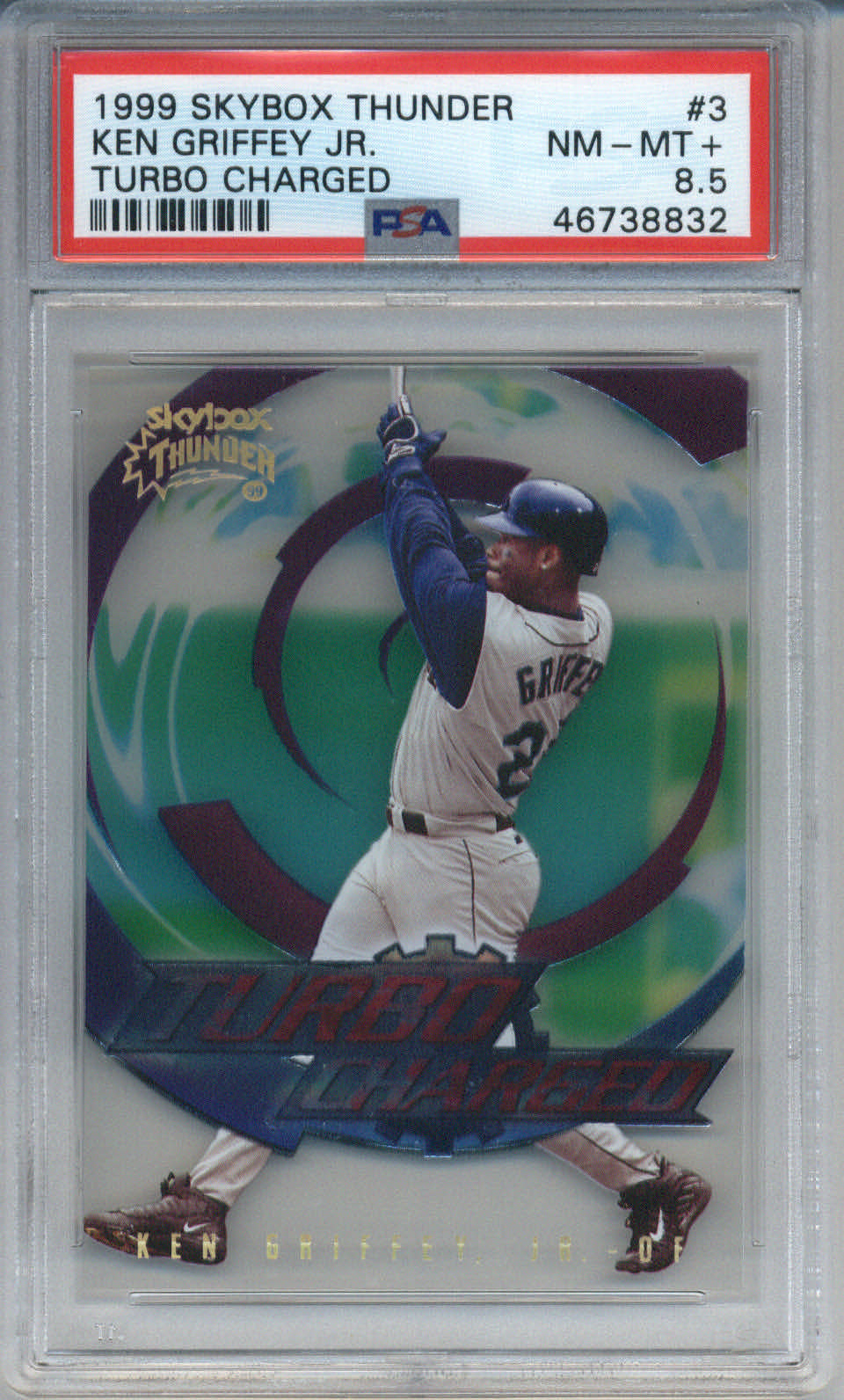 1999 Skybox Thunder Turbo Charged #3 Ken Griffey Jr. PSA 8.5