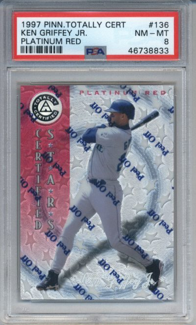1997 Pinnacle Totally Certified Platinum Red #136 Ken Griffey Jr. PSA 8