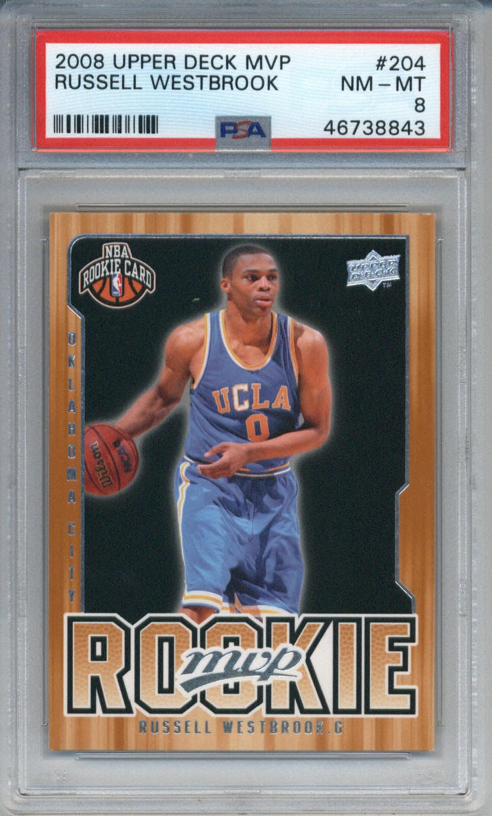 2008 Upper Deck MVP #204 Russell Westbrook PSA 8