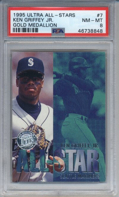 1995 Ultra All Stars Gold Medallion #7 Ken Griffey Jr. PSA 8