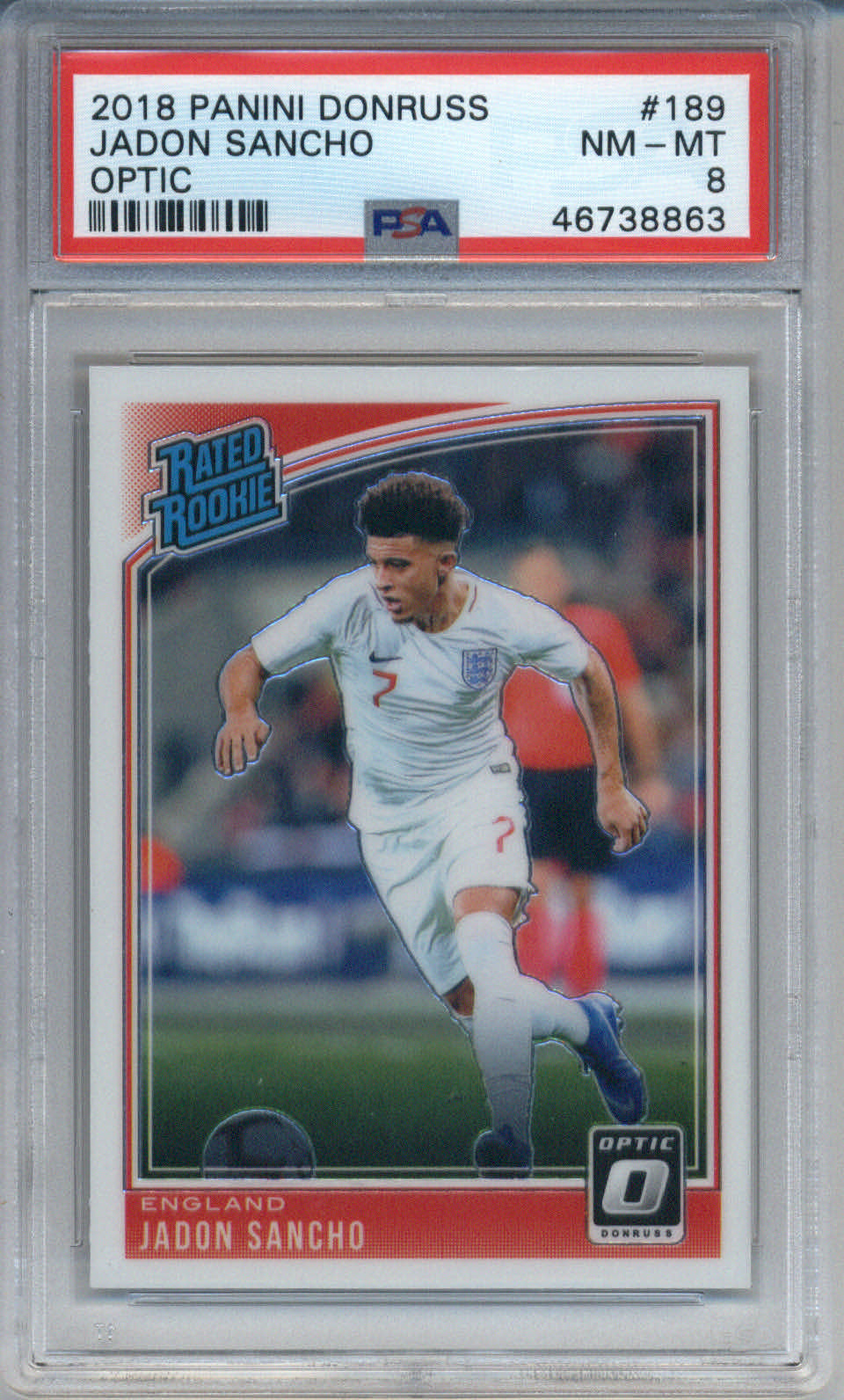 2018 Panini Donruss Optic #189 Jadon Sancho PSA 8