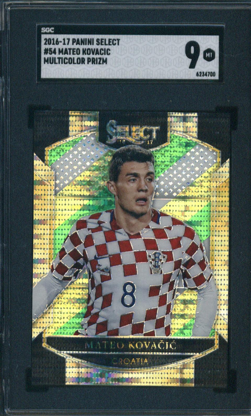 2016-17 Panini Select Multicolor Prizm #54 Mateo Kovacic SGC 9