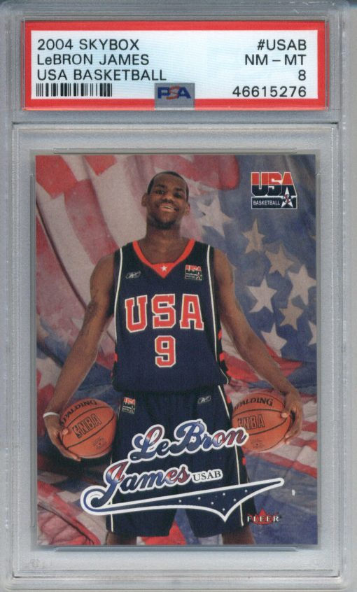 2004 Skybox USA Basketball #USAB LeBron James PSA 8
