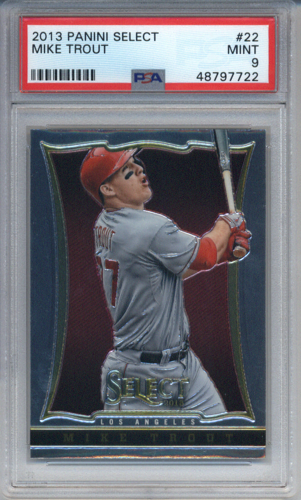 2013 Panini Select #22 Mike Trout PSA 9