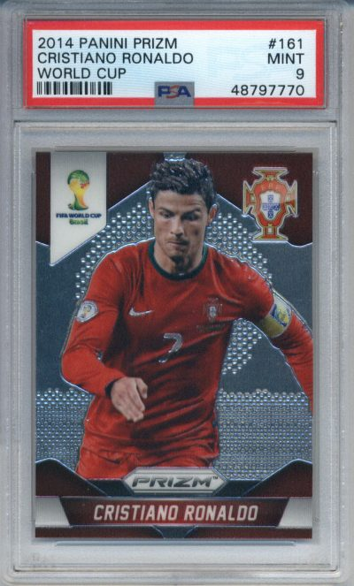 2014 Panini Prizm World Cup #161 Cristiano Ronaldo PSA 9