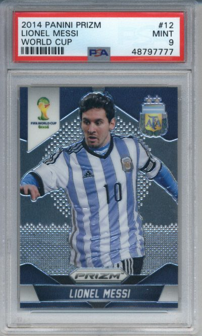 2014 Panini Prizm World Cup #12 Lionel Messi PSA 9