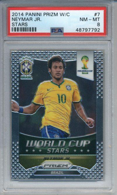 2014 Panini Prizm World Cup Stars #7 Neymar Jr. PSA 8