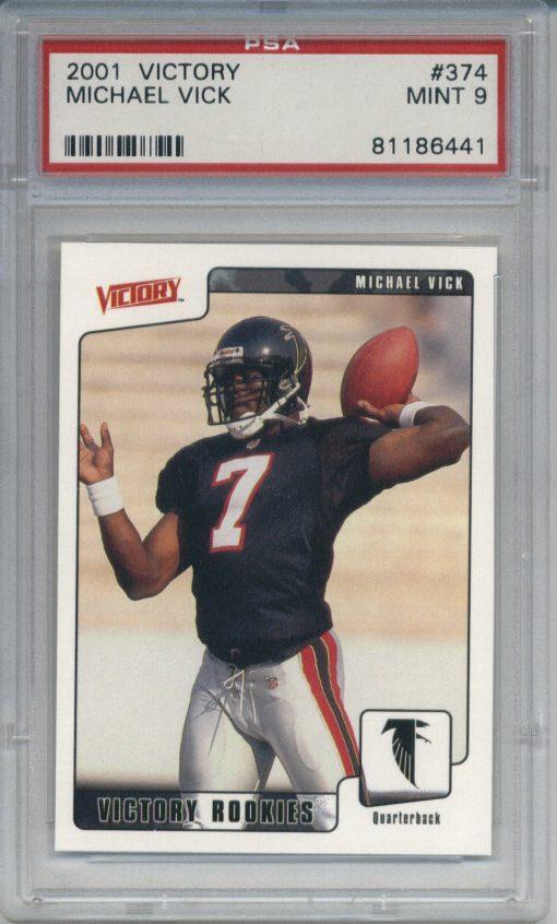 2001 Victory #374 Michael Vick PSA 9